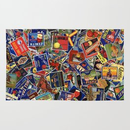 Fruit Crate Collage Rug