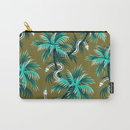 Snake Palms - Light Teal Mustard Carry-All Pouch
