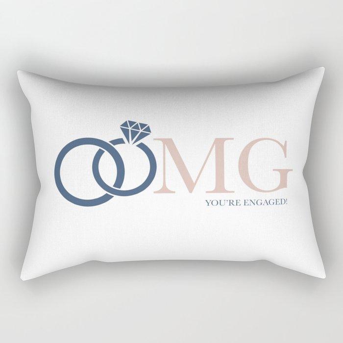 OMG You're Engaged! Rectangular Pillow