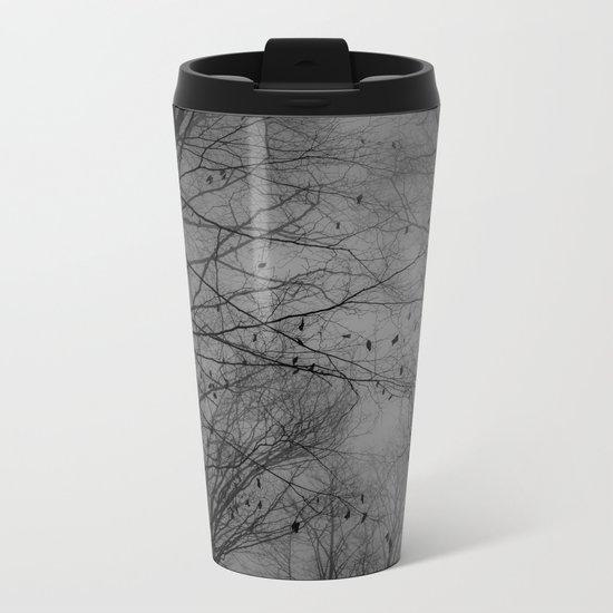 Tree of black Metal Travel Mug