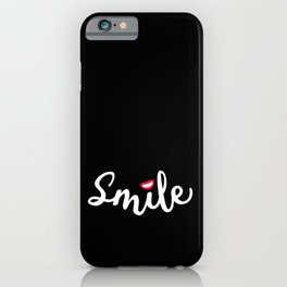 Red Lips Smile | Share the Joy iPhone Case