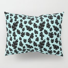 Blue Pinecone Floral Pillow Sham