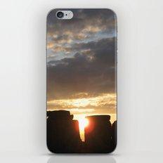 Sunset at Stonehenge iPhone & iPod Skin