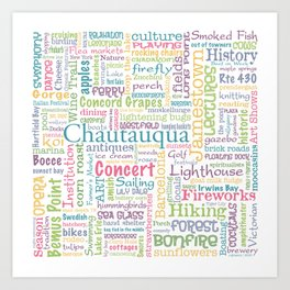 Chautauqua Summer Dream Art Print