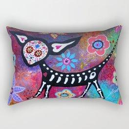 Mexican Dia de los Muertos Chihuahua Painting Rectangular Pillow