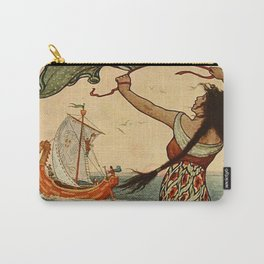 """""""The Red Ship Sailed Away"""" by Frank C Pape Carry-All Pouch"""