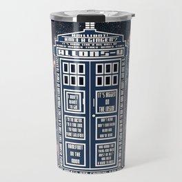 Doctor Who - Tardis Typography Travel Mug