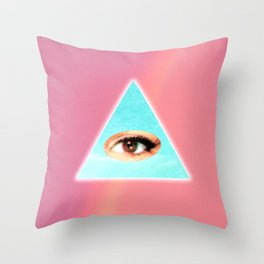 Eye see You (Pink) Throw Pillow