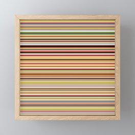 Old Skool Stripes - Horizontal Framed Mini Art Print