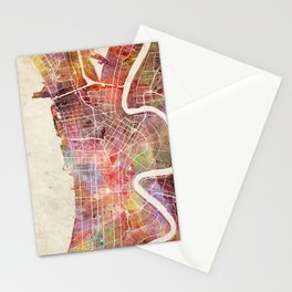 New Orleans map Stationery Cards