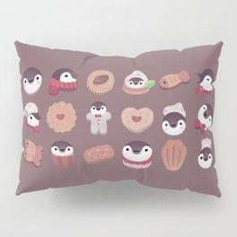 Cookie & cream & penguin - brown  pattern Pillow Sham