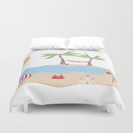 Summer Beach Fun Duvet Cover