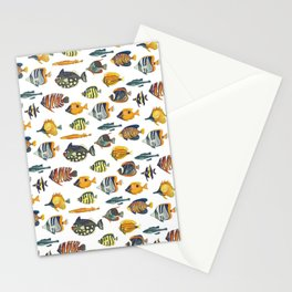 School of Tropical Fish Stationery Cards