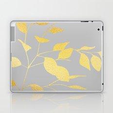 Leaves Gold on Grey Laptop & iPad Skin