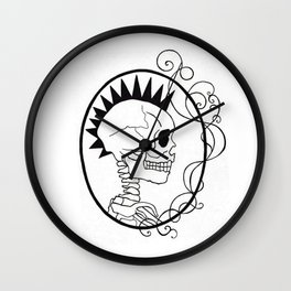 Skull Punk Portrait Wall Clock