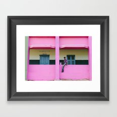 Painting the Orphan Home Framed Art Print