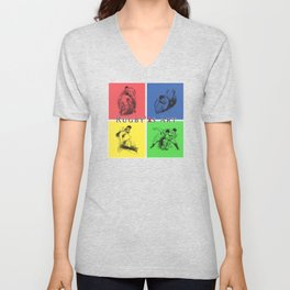 Rugby Color Art by PPereyra Unisex V-Neck