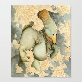Herb-Snout mother with child Canvas Print