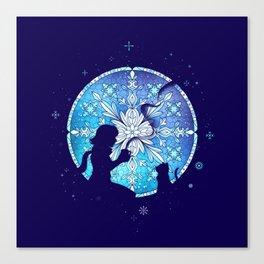 Vitral Snow Flakess Canvas Print