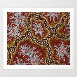 Aboriginal Art Authentic - Bushland Dreaming Ppart 2 Art Print