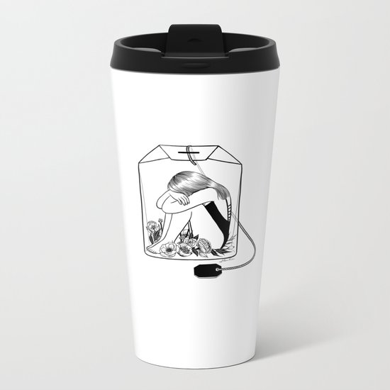Lady Grey Tea Metal Travel Mug