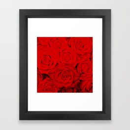 Some people grumble- Floral Red Rose Roses Flowers Framed Art Print