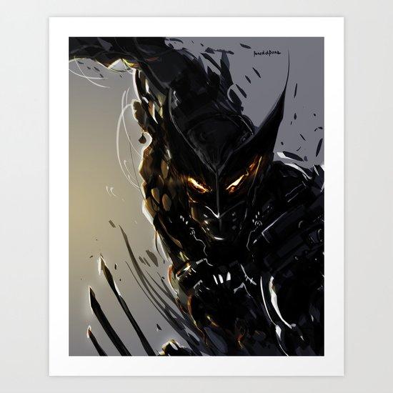Darkblade Wolverine Art Print