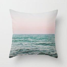 blush ocean Throw Pillow