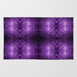 Beautiful Dark Purple glitter sparkles Rug