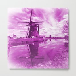Pink Windpump Metal Print