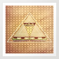 triforce Art Prints featuring Triforce by matteolasi