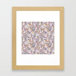 Pretty Bunny Rabbits Framed Art Print