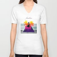 freedom V-neck T-shirts featuring freedom by mark ashkenazi
