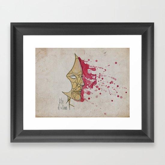 LadyPink Framed Art Print