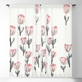 Field of Pink Flowers Blackout Curtain