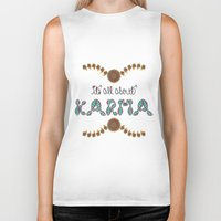 karma Biker Tanks featuring Karma by famenxt