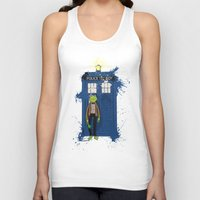 kermit Tank Tops featuring Doctor Who Kermit by Roe Mesquita