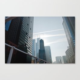 Riverside view of Chicago Canvas Print