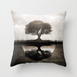 The lone Night reflex Throw Pillow