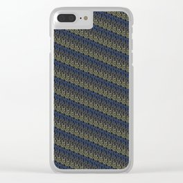 though she be but little, she is fierce - diagonal stripe Clear iPhone Case