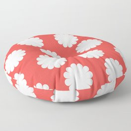 Flower Print (cream/poppy) Floor Pillow