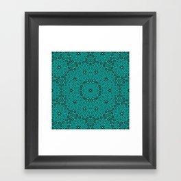 Beautiful mandala in teal and green Framed Art Print