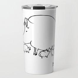Pablo Picasso Pig Drawing, Lines Sketch, Animals Artowork, Men, Women, Kids, Tshirts, Posters, Print Travel Mug