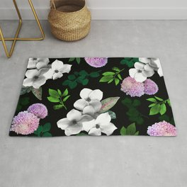 Night bloom Rug