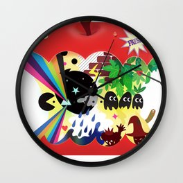 the world inside the apple  Wall Clock