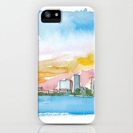 Little Rock Arkansas USA Skyline Impressionistic View. iPhone Case