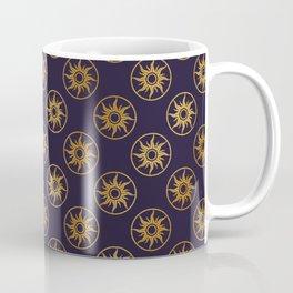 Blue Gold Sun Disks Coffee Mug