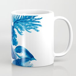 Blue watercolor flowers and stems Coffee Mug