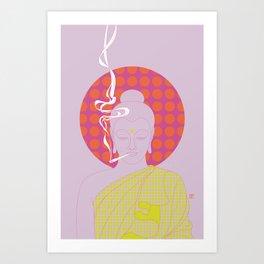 Buddha : Give Peace a Chance! (PopArtVersion) Art Print