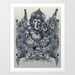 Ganesh Art Print